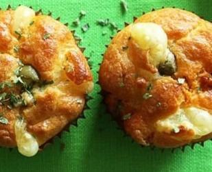 Muffins chorizo olives